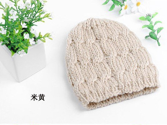 Free shipping / Fashion Knitted cap / winter hat / 10 colors wholesale