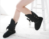 Женские ботинки Woolen Lace Up Snow Women Boots ladies Shoes Winter # 5 color