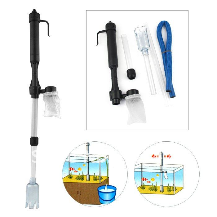 Free shipping Aquarium Fish Tank Gravel Filter cleaner Water Pump Vacuum Cleaner Battery Syphon 228