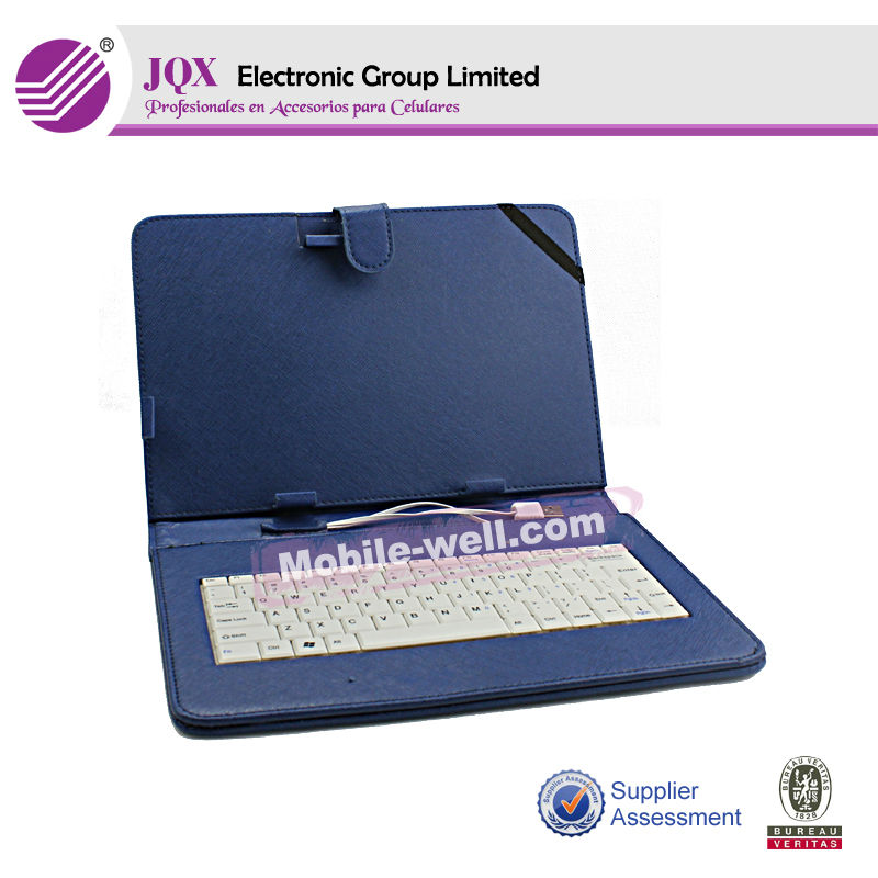 high quality 7 inch leather case with keyboard for tablet pc