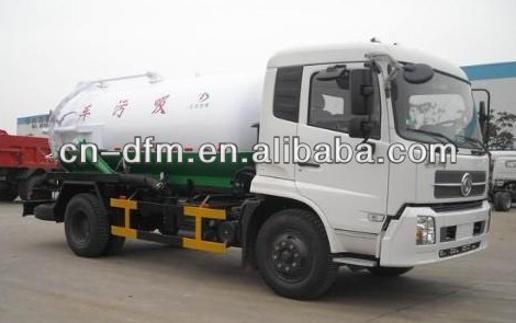 High Efficient!!! Dongfeng Sewage Suction Truck DFL1120 with 10m3/Cummins engione/Tank truck