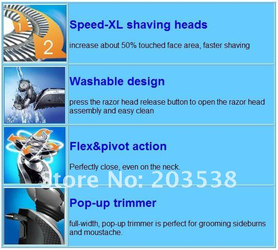 wholesale &retial 1pcs/lot  Rechargeable Shaver men'selectric shaver 5 Heads Razor  electric shaver RSCX-5182