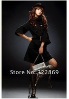 2012 corea women's LiLing cloth coat cultivate one's morality lantern type woolen cloth coat double breasted coat free delivery