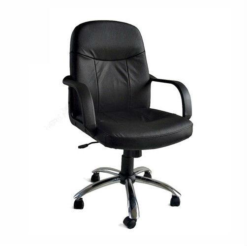 Y-2744 Новое черное кожаное кресло для руководителя для дома и офиса Chrome