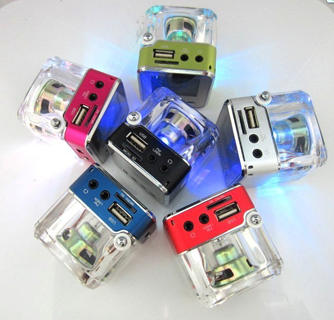 mini speaker with  FM Radio ,Big LED screen portable speaker +8G card ,can connect with TV , cell phone , mp3 ipod Free shipping