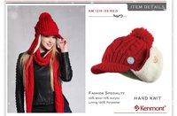 праздник бренда шерсти зимняя шляпа, руки вязать зимой мочка уха cap km 1219-03 Красная хата