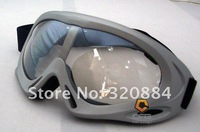 Motorcycle goggles goggles Harley goggles T301 Silver / color film
