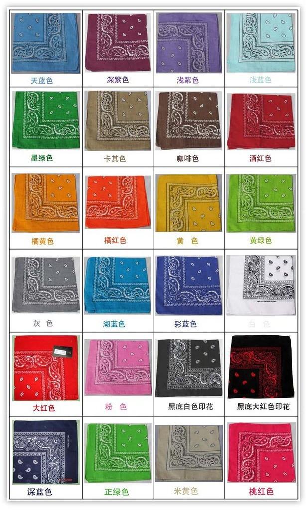 2014  s Женщины/Men 100% Хлопок 55cm*55cm Paisley Printed Bandana,More Цвет Can Choose.