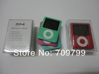 Free Shipping 8GB 3rd Gen MP3 MP4 Music Player 1.8'' Colorful screen display + FM +Crystal Box+6 colours