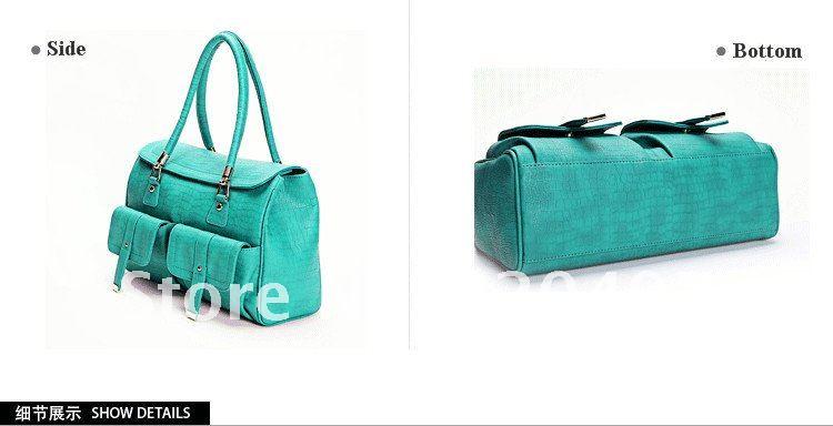 2013new style fashion sky blue bag,import PU women vintage handbags