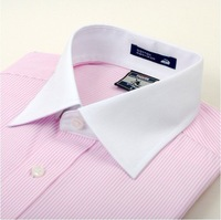 2012 New Arrival--- Brand Shirts, Champagne Collar Business Shirts with Austria Diamond, Dress Shirts Stripe Shirt Free Shipping