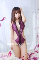 Женский эротический костюм lingerie conjoined three-point purple bikini sexy lingerie B8137 can