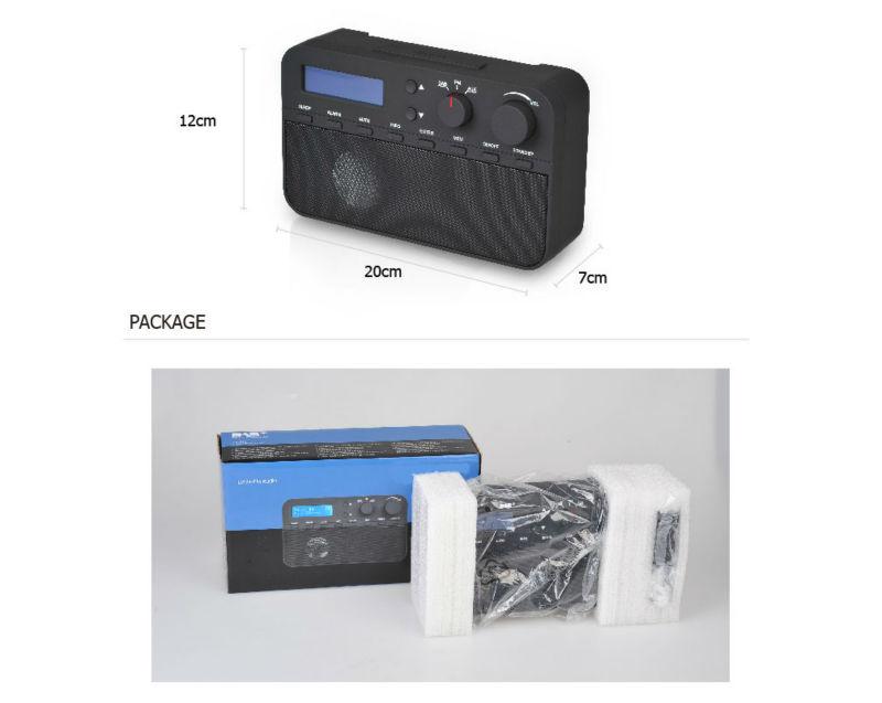 Best price Portable DAB + FM Radio Rretro Black + White Radio ...