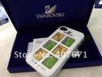 Чехол для для мобильных телефонов Swarovski Crystal case for iphone 5, with 3 Japanese precision Clocks, Luxury packaging case 10pcs/lot