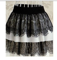 Женская юбка Sexy women fashion skirts, Lace White and Black bandage skirt Size S M L XL