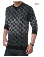 Мужской пуловер Autumn/Fall men's clothing with round collar/men's sweater #8043