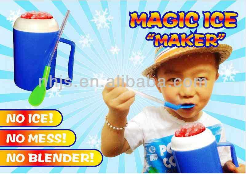 Plastic350ml ice cream maker slush cup hot slush maker cup