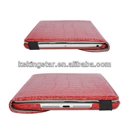 for ipad mini crocodile pattern PU flip leather case