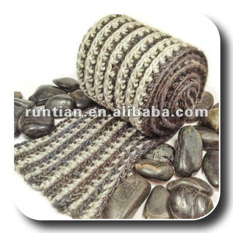 Reversible de los hombres acanalado crochet bufanda de la manera
