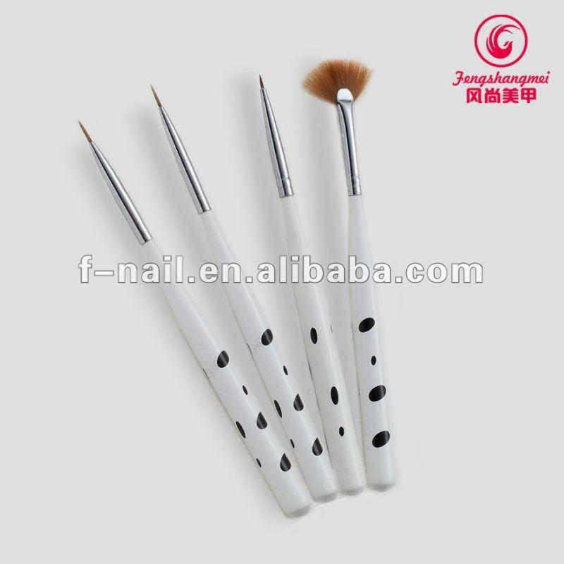 fashion 7pcs nail art brush set for manicure
