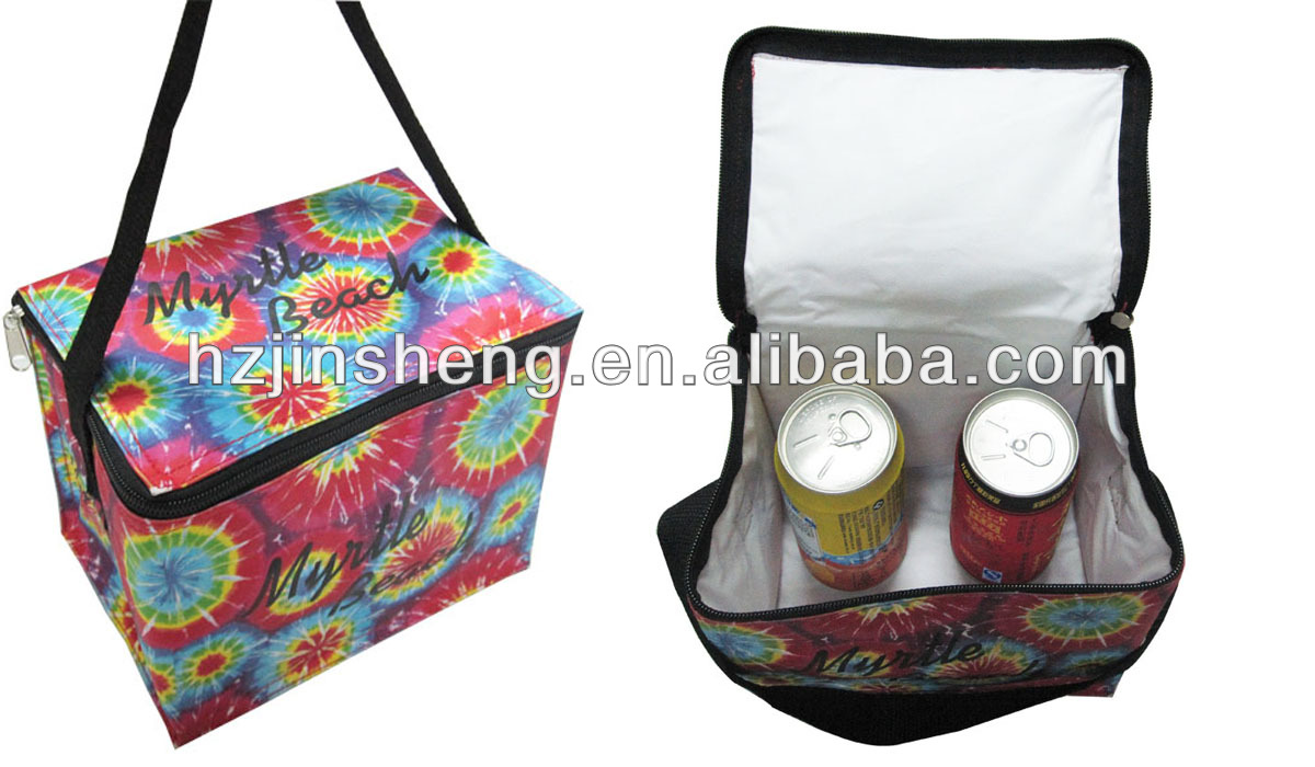 Promotional cheap insulated lunch bag with shoulder strip