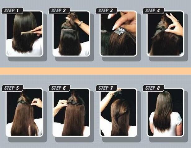 18 20 22 24 26 613 100g One Piece Light Blonde Human Hair Clips