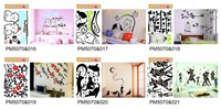 Free shipping via DHL, 50*70cm wall stickers cartoon Stickers,Decals sticking paper, wholesale 100pcs/lot