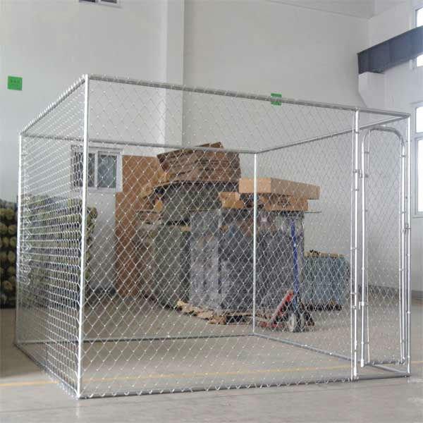 Galvanized steel dog kennel 10' x 10' x 6'
