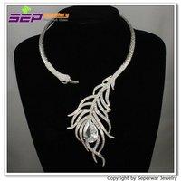 Ювелирный набор Seperwar Crystals Clear Peafowl Peacock Necklace Earring Set