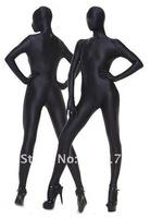 Женский эротический костюм DHL, 1pc Unisex Fancy Dress, Black Fullbody Unisex Zentai Suit, Unisex Catsuit, Size S-XXL