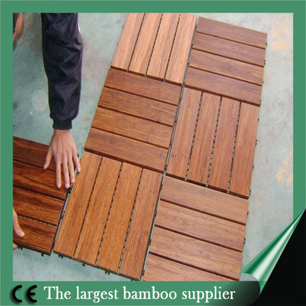 high quality Dark Chocolate Color strand woven outdoor decking