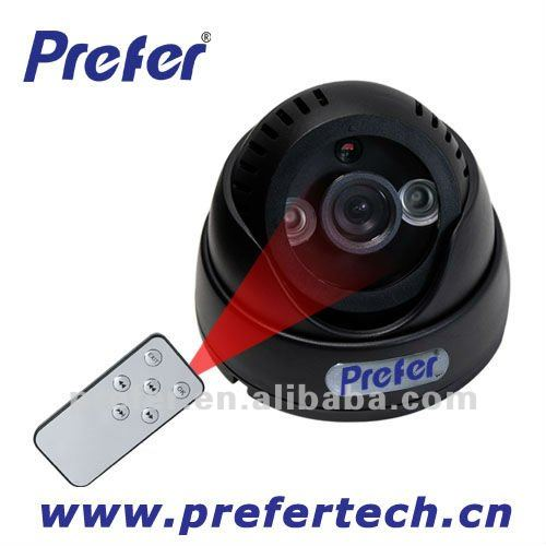 Direct play back on TV by remote control IR Led ARRAY Dome Night Vision SD-Card Motion Detection Indoor CCTV DVR Security Camera