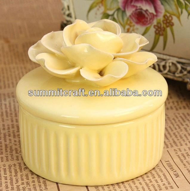 Porcelain Wedding Favors: Porcelain 3d Flower Wedding Favors And Gifts Trinket Box