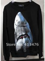 Мужская толстовка 2013 new men's long sleeve hoodies brand SHARK Rottweiler fower Cotton Sweatshirts jumper with tag label cotton coat