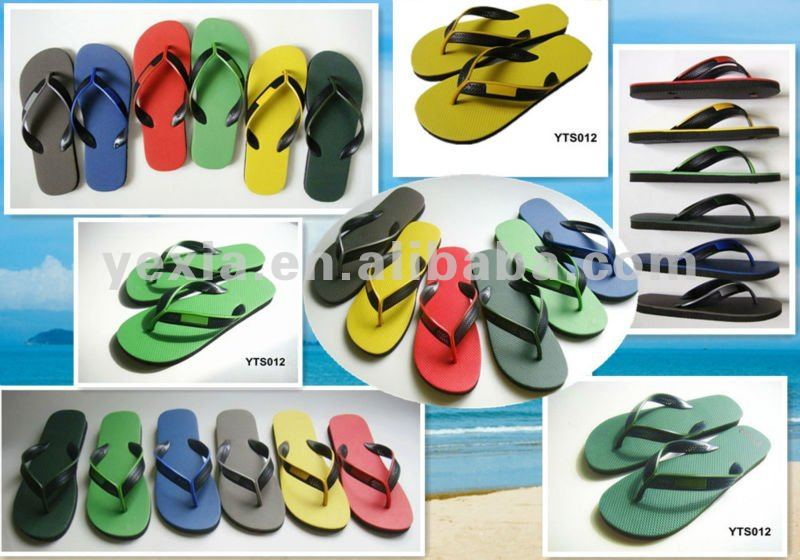 2013 NEW two-color strap man flip flop wholesale