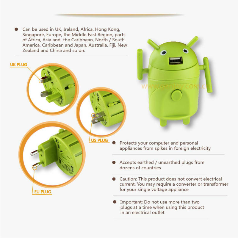 Funny Toy Robbert Adapter Plug GIFT A1211.05 universal top sell electrical travel adapter electrical switch socket