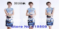 Традиционное китайское платье Sexy Traditional Chinese short Cheongsam style, Elegant Printing stamp cheongsam Ladies cheong-sam wedding dress 17 color