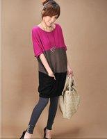 Женское платье MM FASHION 2013 New Big pocket Low Price Mix Color Plus Size Rainbow Maternity Dress