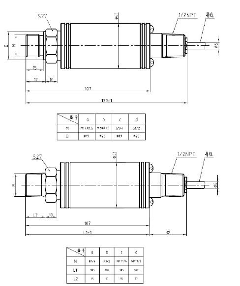 coal & mine professional Pressure Sensor (PT124B-215 )