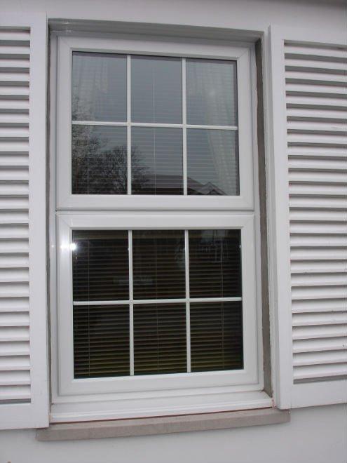 Style am ricain pvc verticale fen tre coulissante en verre for Fenetre verticale