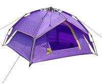 Туристическая палатка 2012 High Quality Camping Tent 3-4 Person Double Layer Family Heavy Rain-proof Automatic Tent