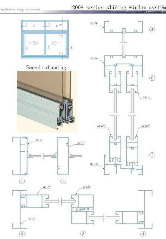 Aluminum Window Details : White aluminum frame sliding glass window factory buy