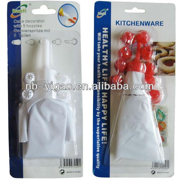 wholesale cake decorating supplies Cake Cream Syringe Tools,Syringe With Assorted Size Nozzle ...