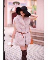 Женская одежда из меха Faux Fur Vest Jacket