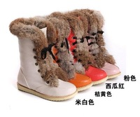 Женские ботинки HOT! NEW! High quality Fashion PU leahter with rabbit fur warm winter snow boots, women winter boots/shoe