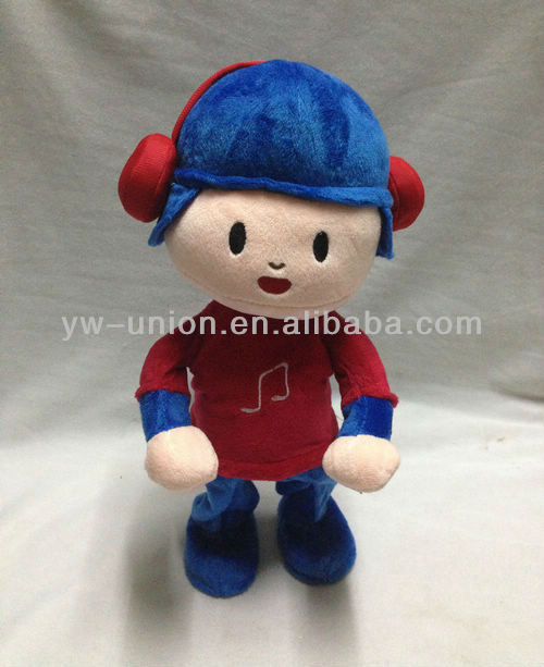 B/O Mechanical Music Singing and Walking Turkey Cartoon Plush Pocoyo