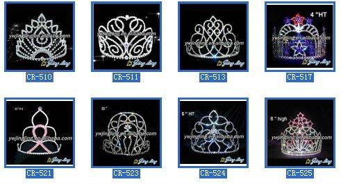 large tiara flower pageant crown