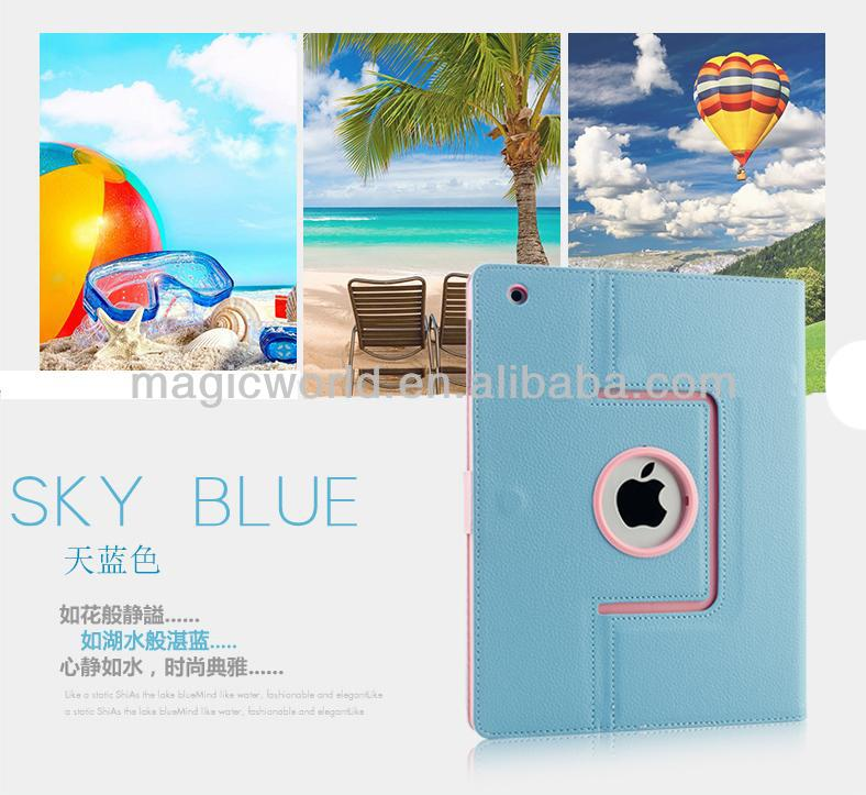 2014 for ipad case with 360 rotating leather