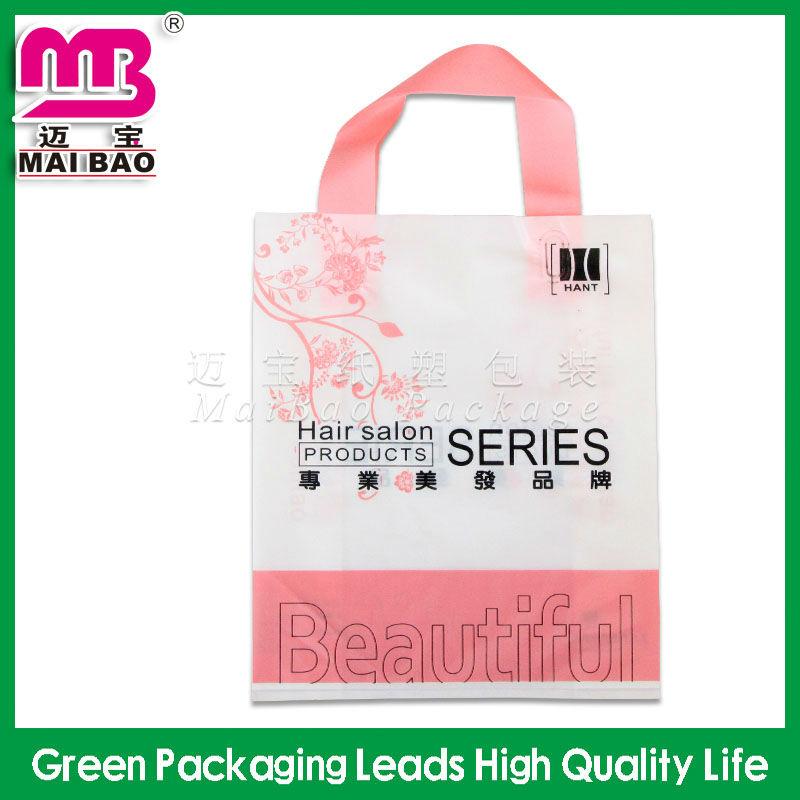 new style fashion design loop handle plastic bag