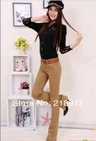 Женские брюки 2013 spring new jeans women pants large size stretch boot-cut pants trousers were thin bell-bottoms